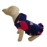 View Image 1 of Raining Hearts Hooded Dog Pullover Dress