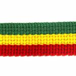 View Image 3 of Rasta Stripe Dog Leash