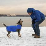 View Image 2 of RC Pet Baseline Fleece Dog Pullover - Electric Blue and Lime