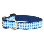 View Image 1 of Blue Gingham Dog Collar by Up Country
