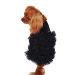 View Image 1 of Red Carpet Ruffle Dog Dress -  Black