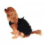 View Image 2 of Red Carpet Ruffle Dog Dress -  Black