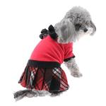 View Image 1 of Red Plaid Velvet Jumper by Hip Doggie