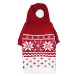 View Image 1 of Reese Dog Sweater Hoodie by Pooch Outfitters - Red