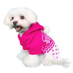 View Image 2 of Reese Dog Sweater Hoodie by Pooch Outfitters - Pink