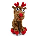 View Image 1 of Reindeer Crochet Dog Toy by Dogo
