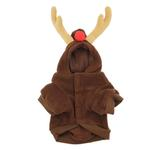 View Image 3 of Reindeer Dog Hoodie - Brown
