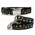 View Image 1 of Rescue Me Dog Collar and Leash Set by Diva Dog
