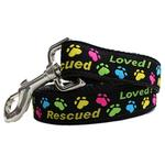 View Image 3 of Rescue Me Dog Collar and Leash Set by Diva Dog