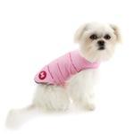 View Image 2 of Reversible Bone Puffer Dog Jacket by fabdog® - Pink/Light Pink