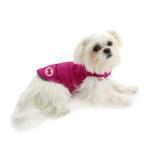 View Image 3 of Reversible Bone Puffer Dog Jacket by fabdog® - Pink/Light Pink