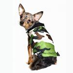 View Image 1 of Reversible Camo Puffer Dog Vest by Hip Doggie