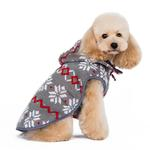 View Image 4 of Reversible Dog Sweater Trench Coat by Dogo - Gray