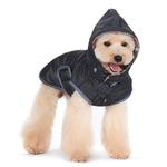 View Image 6 of Reversible Dog Sweater Trench Coat by Dogo - Gray