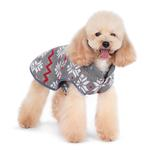 View Image 3 of Reversible Dog Sweater Trench Coat by Dogo - Gray