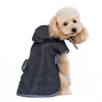 View Image 2 of Reversible Dog Sweater Trench Coat by Dogo - Gray