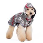 View Image 5 of Reversible Dog Sweater Trench Coat by Dogo - Gray