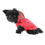 View Image 3 of Reversible Elasto-Fit Dog Raincoat - Scarlet Red