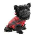 View Image 2 of Reversible Elasto-Fit Dog Raincoat - Scarlet Red