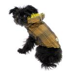 View Image 4 of Reversible Elasto-Fit Dog Raincoat - Yellow