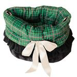 View Image 1 of Reversible Snuggle Bugs Pet Bed, Bag, and Car Seat - Green Plaid