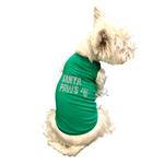 View Image 2 of Rhinestone Santa Paws Christmas Dog Tank - Green