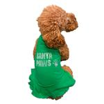 View Image 3 of Rhinestone Santa Paws Christmas Tank Dog Dress - Green