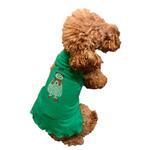 View Image 3 of Rhinestone Snowman Holiday Dog Dress - Green