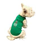 View Image 2 of Rhinestone Snowman Holiday Dog Tank - Green