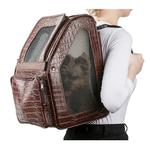 View Image 3 of Rio Rolling Dog Backpack Carrier - Brown Croco