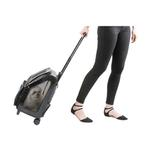 View Image 2 of Rio Rolling Dog Backpack Carrier - Black Croco
