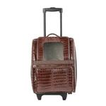 View Image 4 of Rio Rolling Dog Backpack Carrier - Brown Croco
