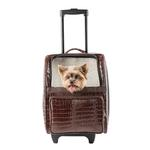 View Image 1 of Rio Rolling Dog Backpack Carrier - Brown Croco
