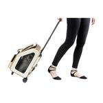 View Image 2 of Rio Rolling Quilted Luxe Dog Carrier Backpack - Ivory