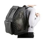 View Image 3 of Rio Rolling Quilted Luxe Dog Carrier Backpack - Black
