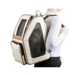 View Image 3 of Rio Rolling Quilted Luxe Dog Carrier Backpack - Ivory