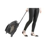 View Image 4 of Rio Rolling Quilted Luxe Dog Carrier Backpack - Black