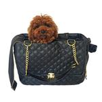 View Image 1 of Rodeo Signature Quilted Dog Travel Carrier - Black