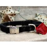 View Image 4 of Carnation Red Velvet Small Dog Collar and Leash Set by Diva Dog