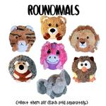 View Image 2 of Roundimal Squeaky Dog Toy - Bear