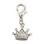 View Image 1 of Royal Crown D-Ring Pet Collar Charm by foufou Dog - Clear
