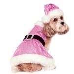 View Image 1 of Rubie's Sequin Mrs. Claus Dog Dress - Pink