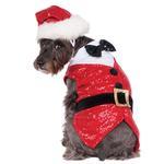 View Image 1 of Rubie's Sequin Santa Dog Tuxedo