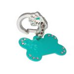 View Image 2 of Rubit Crystal Paw Dog Tag Clip - Silver