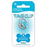 View Image 3 of Rubit Crystal Paw Dog Tag Clip - Silver