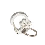 View Image 1 of Rubit Crystal Paw Dog Tag Clip - Silver