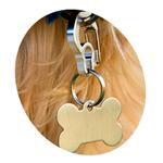 View Image 2 of Rubit Dog Tag Clip - Blue Curve