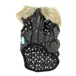 View Image 4 of Ruched Bubble Dog Jacket by Dogo - Black