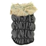 View Image 3 of Ruched Bubble Dog Jacket by Dogo - Black