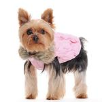View Image 4 of Ruched Bubble Dog Jacket by Dogo - Pink